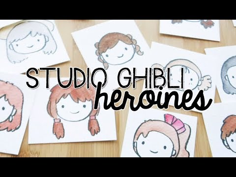 Doodles With Circles : Studio Ghibli Heroines (Draw Kawaii Girls) | Doodle With Me