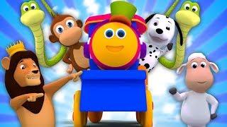 Bob o trem   Rimas e canções de berçário para crianças   Vídeos de desenhos animados para crianças