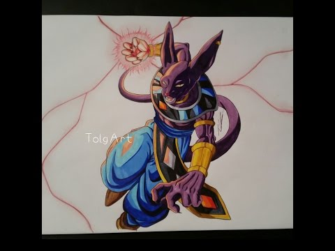 "Drawing Lord Beerus ► God of Destruction / DBZ ""Battle of Gods"""