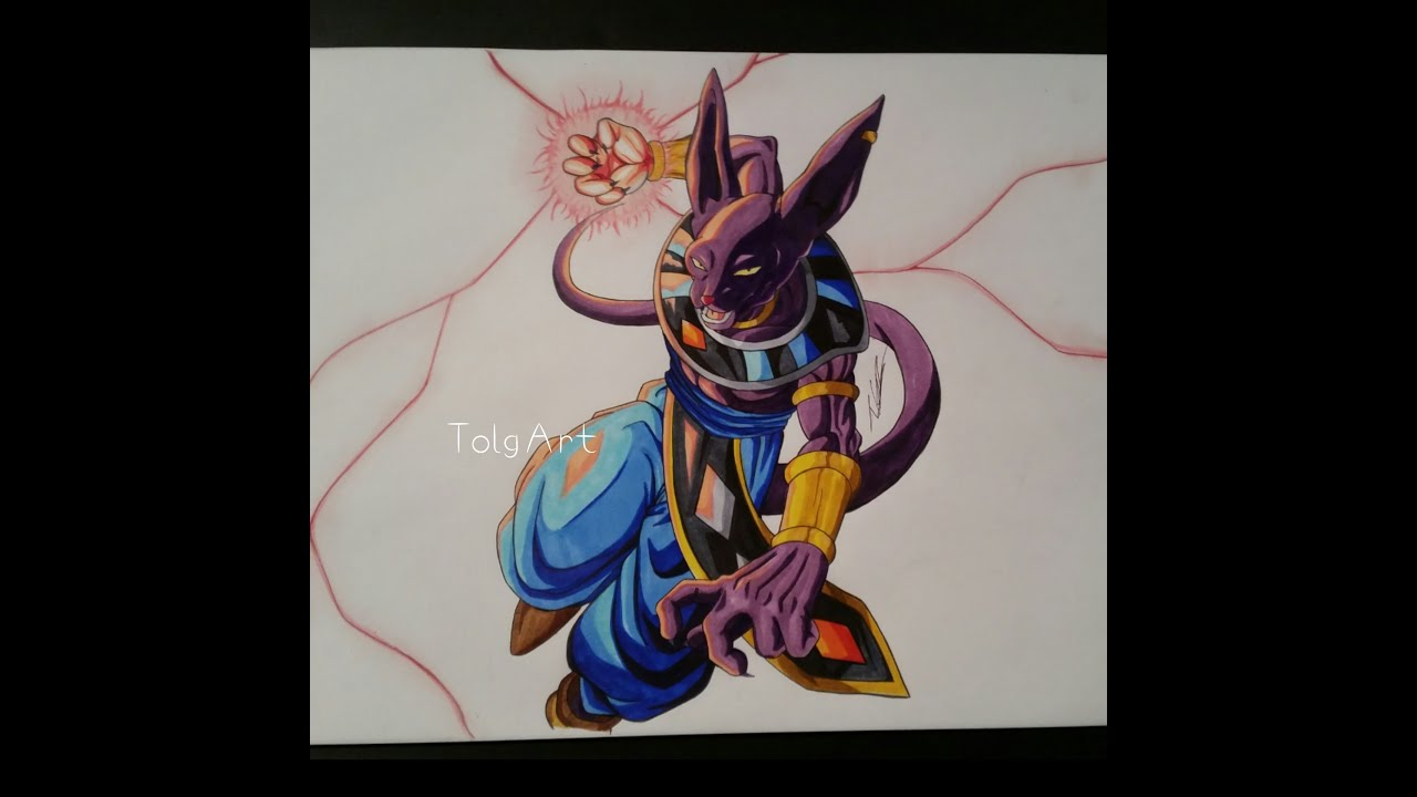 Drawing Lord Beerus God Of Destruction Dbz Quot Battle Of