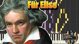 ???? Für Elise (Para Elisa) - Ludwig van Beethoven [Piano Tutorial] (Synthesia) HD Cover