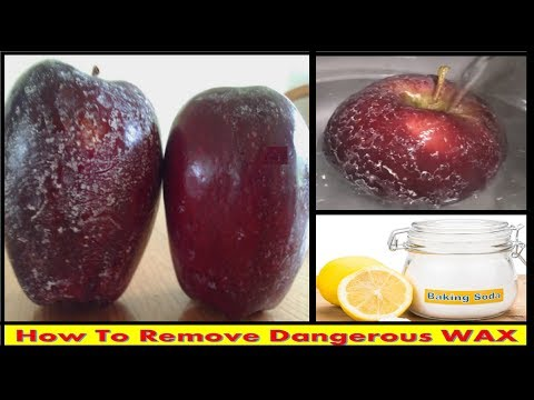 How To Clean Dangerous WAX on Apples Naturally || How to Clean Wax Off Apples