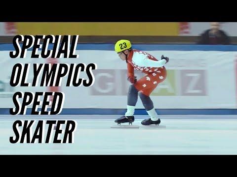 Special Olympics Speed Skater