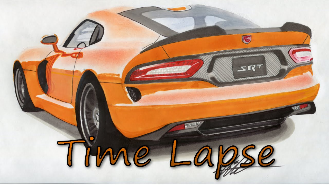 2017 Dodge Srt Viper Drawing Time Lapse