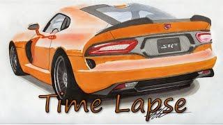 2014 Dodge SRT Viper Drawing  - Time Lapse