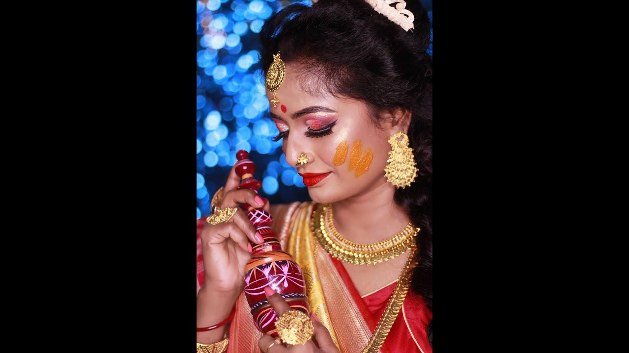 #haldimakeup #bengalibride #haldilook #bongbeauty #bongbride #makeup #bridalmakeup #kolkata
