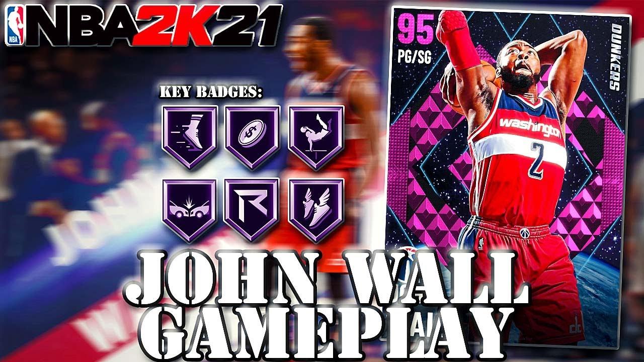 PINK DIAMOND JOHN WALL GAMEPLAY!! 50-POINT DOUBLE-DOUBLE! BEST SLASHER IN NBA 2K21 MYTEAM!