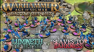 Warhammer: Age of Sigmar Battle Report - Lumineth of Hysh vs. Slaves to Darkness