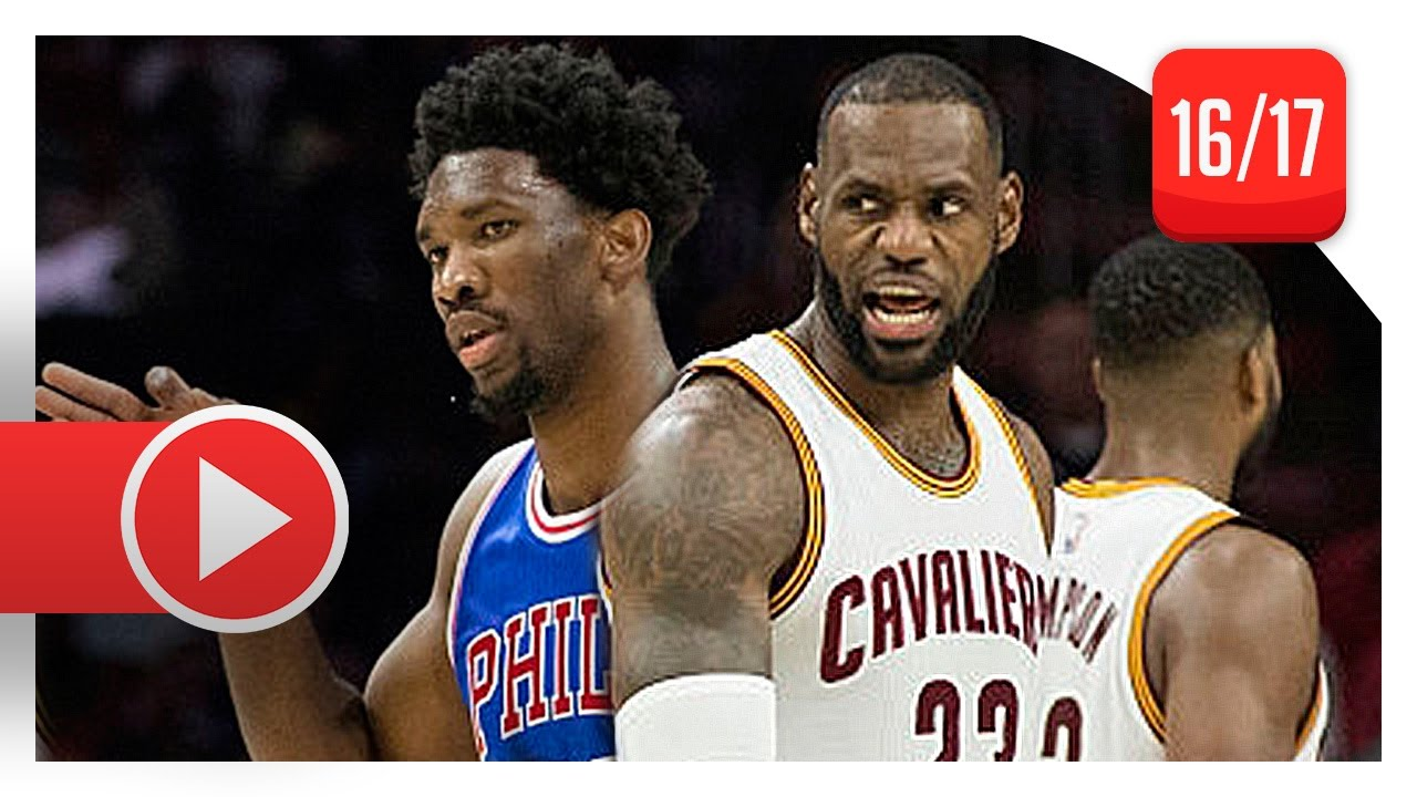 outlet store fa7a9 618b6 LeBron James vs Joel Embiid CRAZY Battle Highlights (2016.11.05) 76ers vs  Cavaliers - MUST SEE!