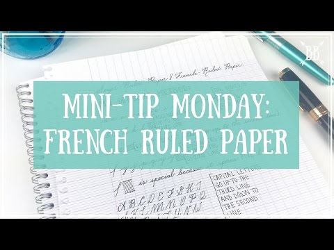 Mini-Tip Monday: French Ruled Paper