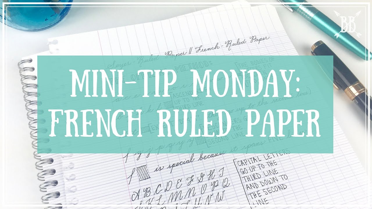 MiniTip Monday French Ruled Paper YouTube