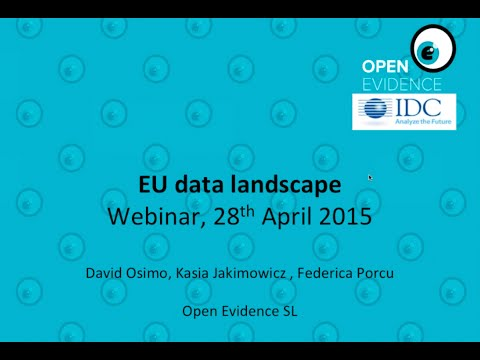 EU Data Landscape map - Open consultation with big data community