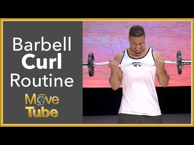 How to do a Barbell Curl with the @Hodgetwins!
