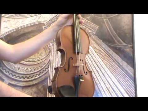 Old 4/4 violin Czech label バイオリン скрипка 小提琴 385