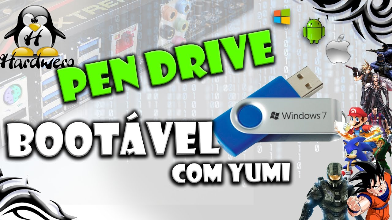 fazer pendrive bootavel windows 7 yumi