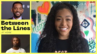 Jordyn Woods Explains Lyric References (Playboi Carti, Will Smith, Rick Ross) | Between The Lines