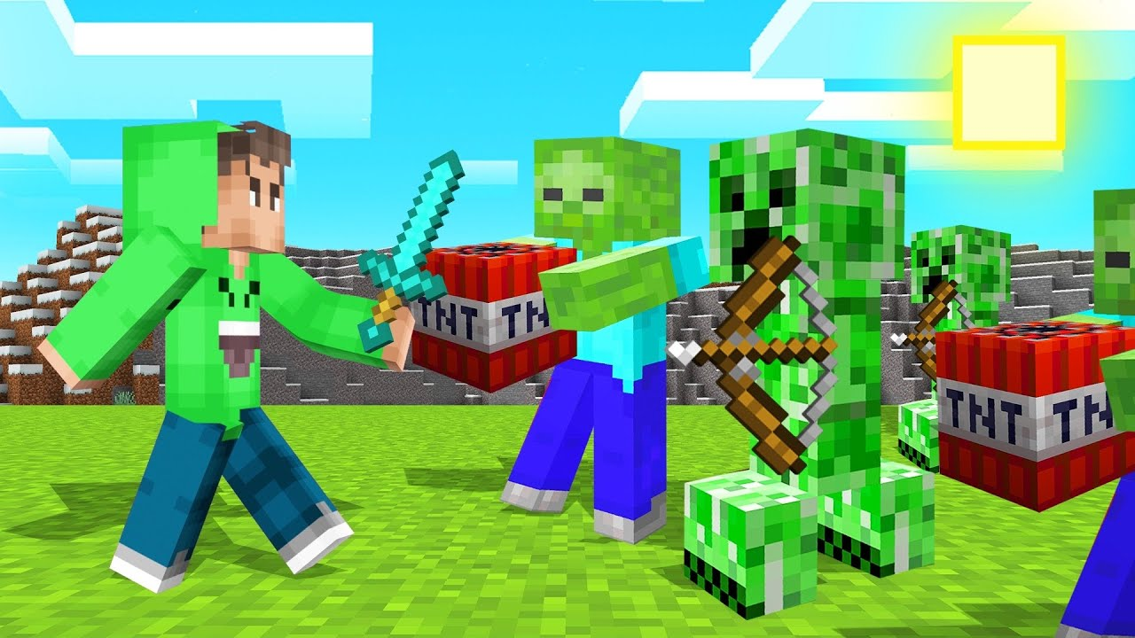 MINECRAFT But MOBS ARE OVERPOWERED! (Mods)