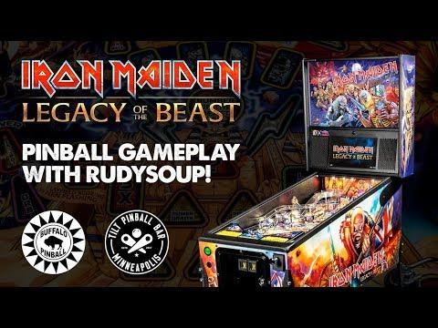 New! Iron Maiden pinball gameplay with RudySoup, live from TILT Pinball Bar