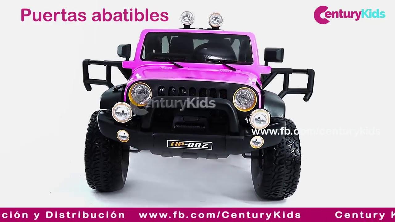 pistón nombre Encommium  JEEP 4x4 para niños- Carros a Bateria - Century Kids - YouTube