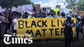 Protesters gather in Tampa in peaceful demonstration on Sunday