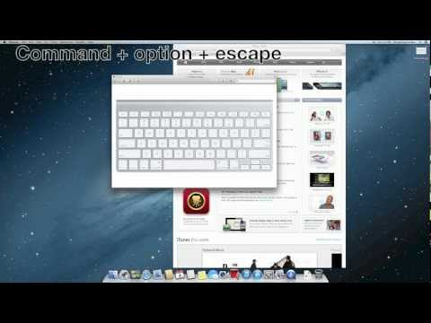 Ctrl alt del on a mac to force quit applications on your Mac.