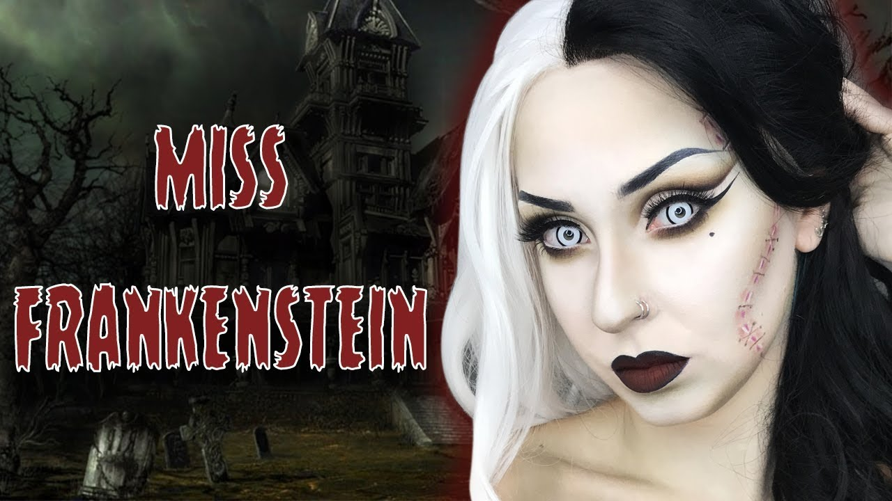 Super Miss Frankenstein Makeup HALLOWEEN 2017 | Marion Cameleon - YouTube CJ32