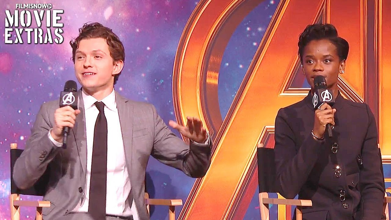 AVENGERS: INFINITY WAR | Tom Holland & Letitia Wright Play