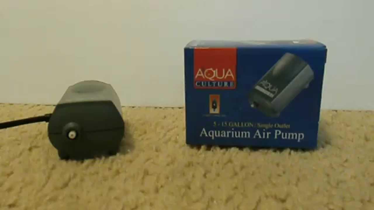 PRODUCT REVIEW Aqua Culture Aquarium Air Pump YouTube