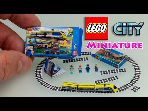 How to make Miniature LEGO City Passenger Train set – Tutorial | No Polymer Clay!