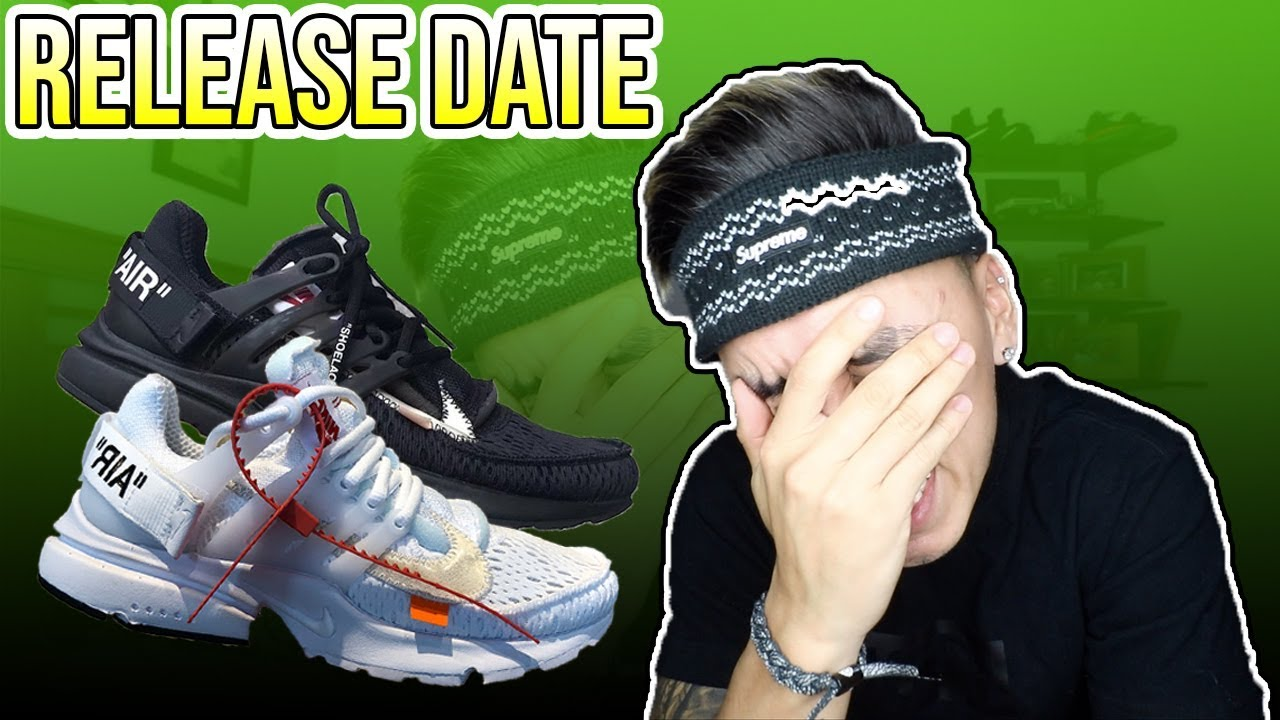 3ab50fc48d Official Release Date For The OFF WHITE x Nike Air Presto Black & White  (2018)