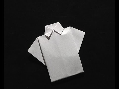 Origami pliage papier la chemise youtube - Pliage serviette coquillage ...