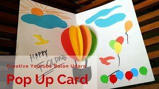 Cara membuat birthday ballons pop up card