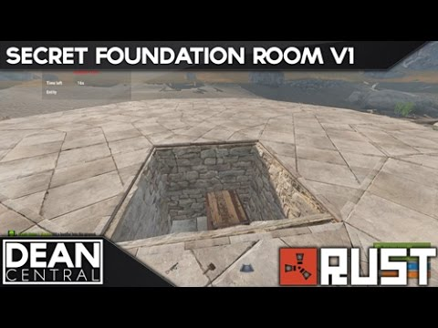 Hidden Cupboard Inside Foundation | Advanced Rust Building #1