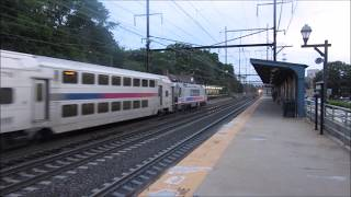 Northeast Corridor Railfanning in Metuchen, New Jersey.  7/7/2017.