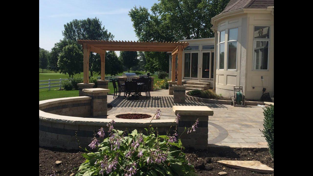 unilock paver patio in hilliard ohio by creative earthscapes