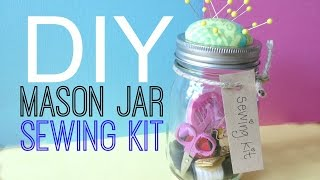 Diy Sewing Kit Mason Jar | By Michele Baratta