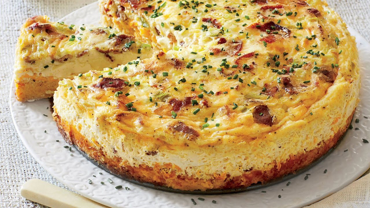 Bacon And Cheddar Grits Quiche | Southern Living
