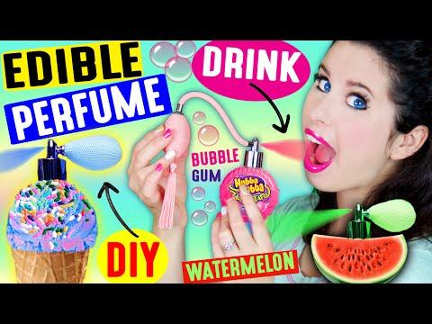 DIY EDIBLE PERFUME | Spray In Your Mouth | Drink Fragrance | Lickable & Kissable Body Splash!