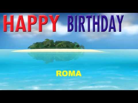 Roma   Card Tarjeta - Happy Birthday