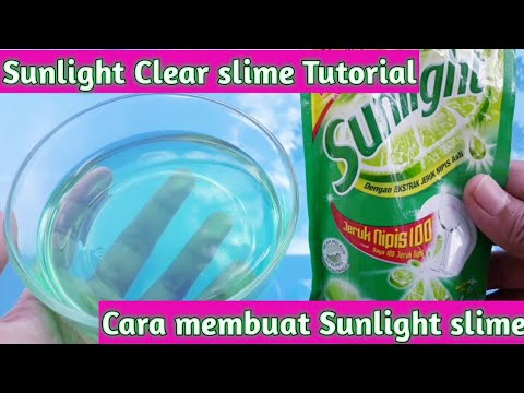 Cara Membuat Sunlight Clear Slime Tutorial Youtube