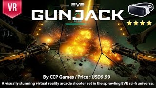 Gunjack for Gear VR - A stunning sci-fi graphic VR action arcade shooter.