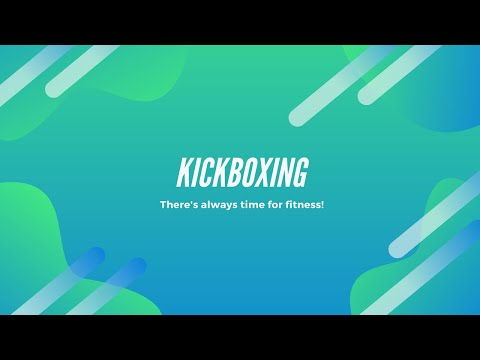 Just kicking it!  Kickboxing exercise