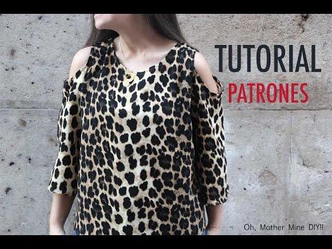 DIY como hacer blusa con hombros descubiertos (patrones gratis)