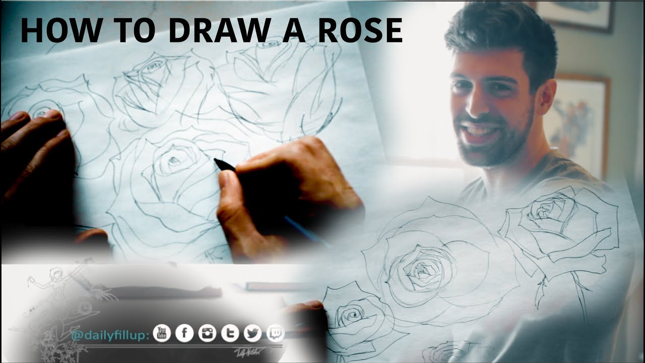 How To Draw A Rose Step By Step Trick For Beginners