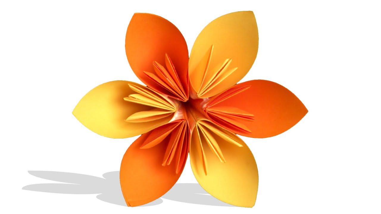 3d Origami Flower Diy Learn Origami How To Make Easy Origami