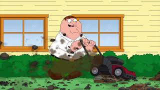 Family Guy - Time for Daddy to mow this very rocky backyard
