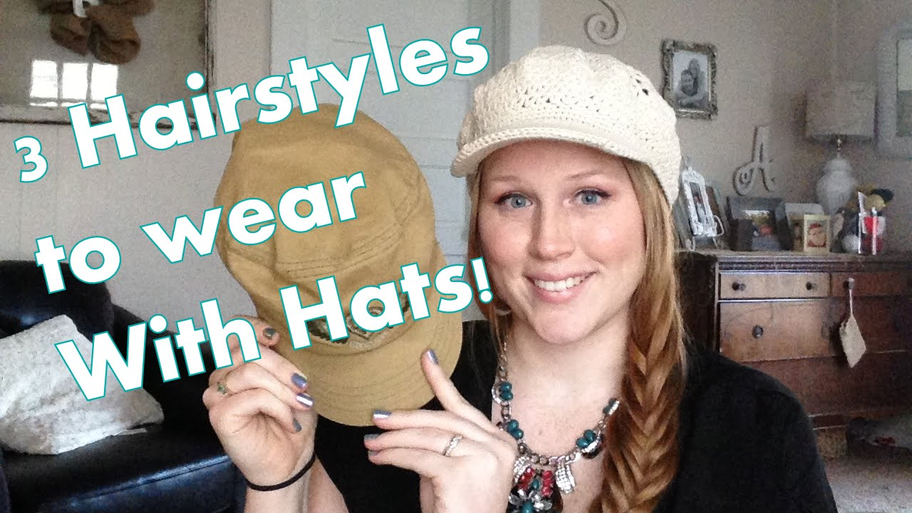 how to wear hair style monday tutorial 3 hair styles i wear with hats 4760 | maxresdefault