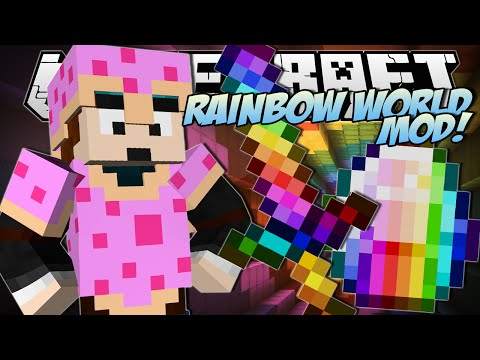 Minecraft | RAINBOW WORLD MOD (Nyan Blocks, Pop Tarts & More!) | Mod Showcase