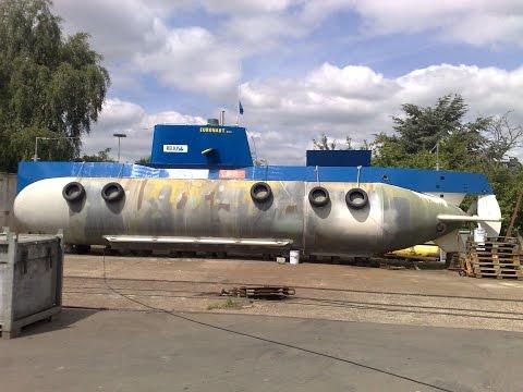 """Amateur built submarine """"Euronaut"""" - Construction site"""