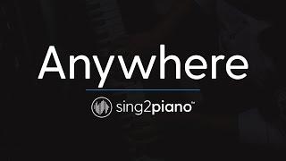 Anywhere Piano Karaoke Instrumental Rita Ora
